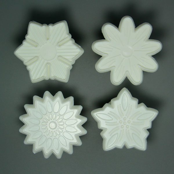HB0570D 4pcs Flowers Shape Press Mold Cake Fondant Molds,Fondant Cutter