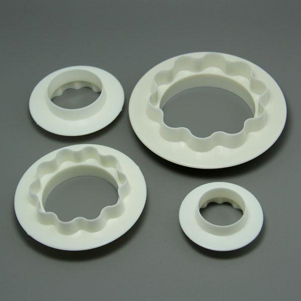 HB0572 Cake Round&Wavy Edge Decoration Set Fondant Cutter