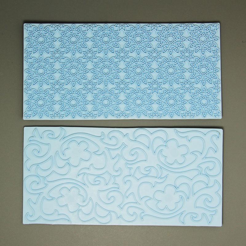 HB0574bolang Cake Decoration Tools leaf&flower Fondant Impression Mat