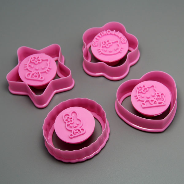 HB0582 Plastic Kitty Shape cookie cutter stamp Cake Fondant Mold cake decoration
