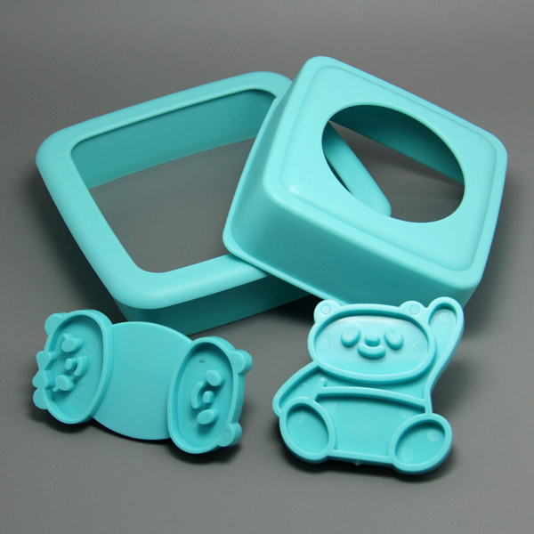 HB0603 Kungfu Panda Shape Sandwich Stamp Set,cookie cutters