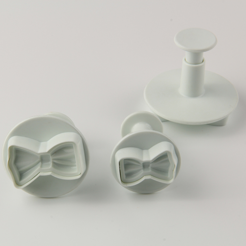 HB0612 3pcs Bow-tie Plunger Cutter cookie cutter cake decoration chocolate mold