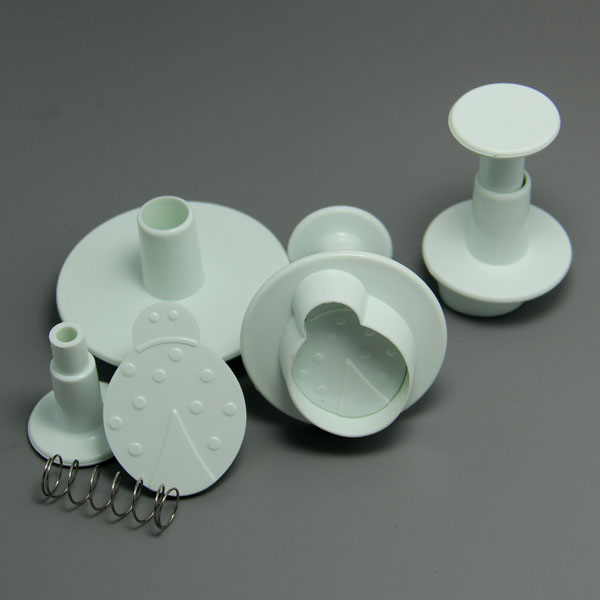 HB0613 3pcs Beetle Plunger Cutter cookie cutters set cake decoration