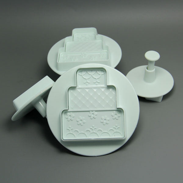 HB0617 4pcs three-tiered Cake Shape Plunger Cutter