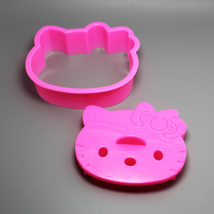 HB0685 Plastic pretty kitty cat shaped cookie mold/cake fondant mold