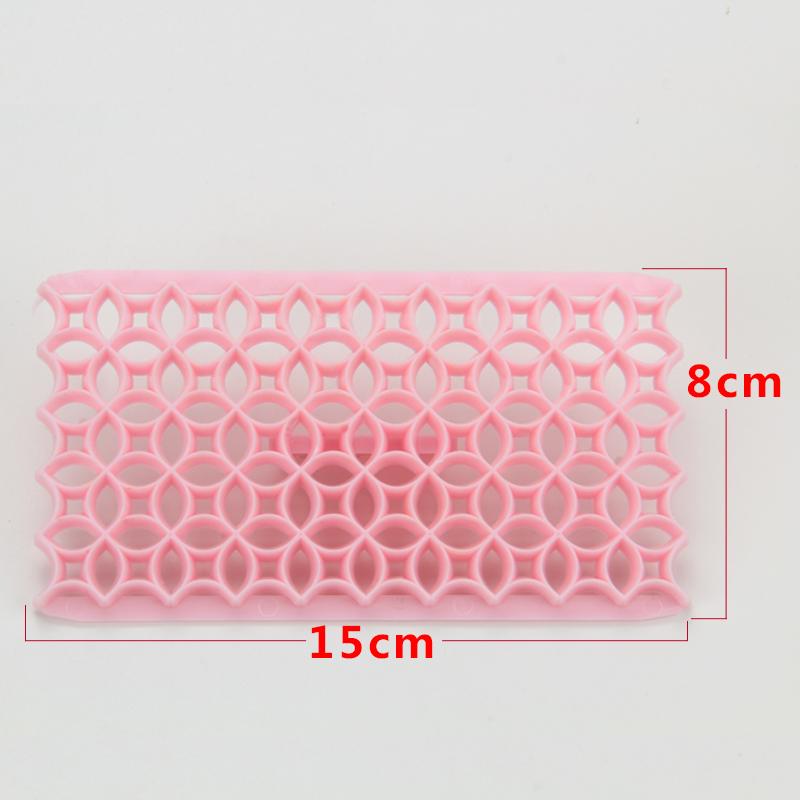 HB0687E  Plastic new design flower shape fondant cookie embosser cutter mold