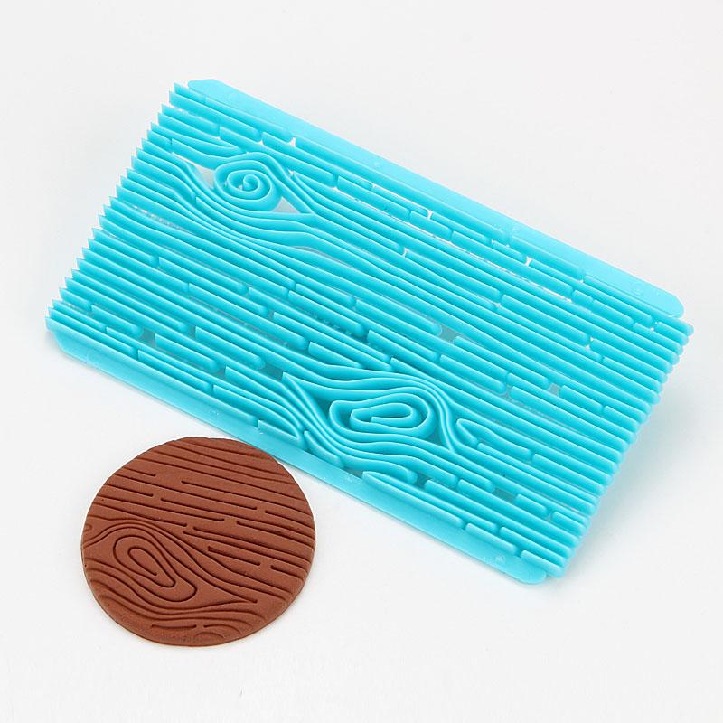 HB0687N New design tree bark shape fondant cookie embosser cutter mold