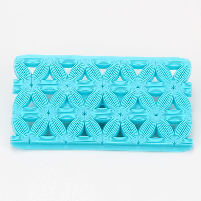 2017 New design flower shape fondant cookie embosser cutter mold