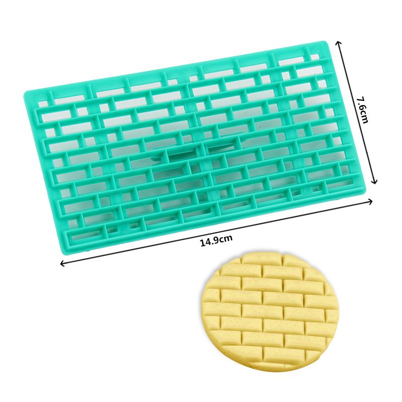 HB0687U New design rectangle shape fondant cookie embosser cutter mold