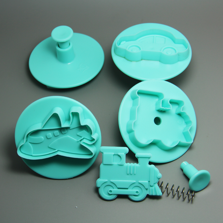 HB0694 4pcs vehicle plastic plunger cutter set(car,ship,plane tank)