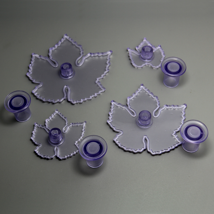 HB0743 Plastic 4pcs Grape vine shaped cookie cutters set cake fondant decorating tool