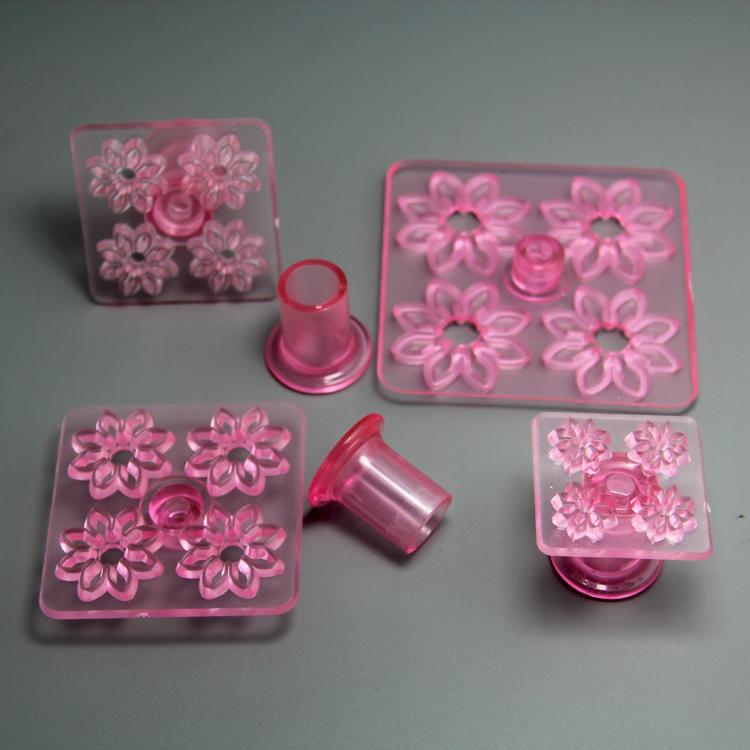 HB0752 Plastic 4pcs 8petals daisy impressing embosser set