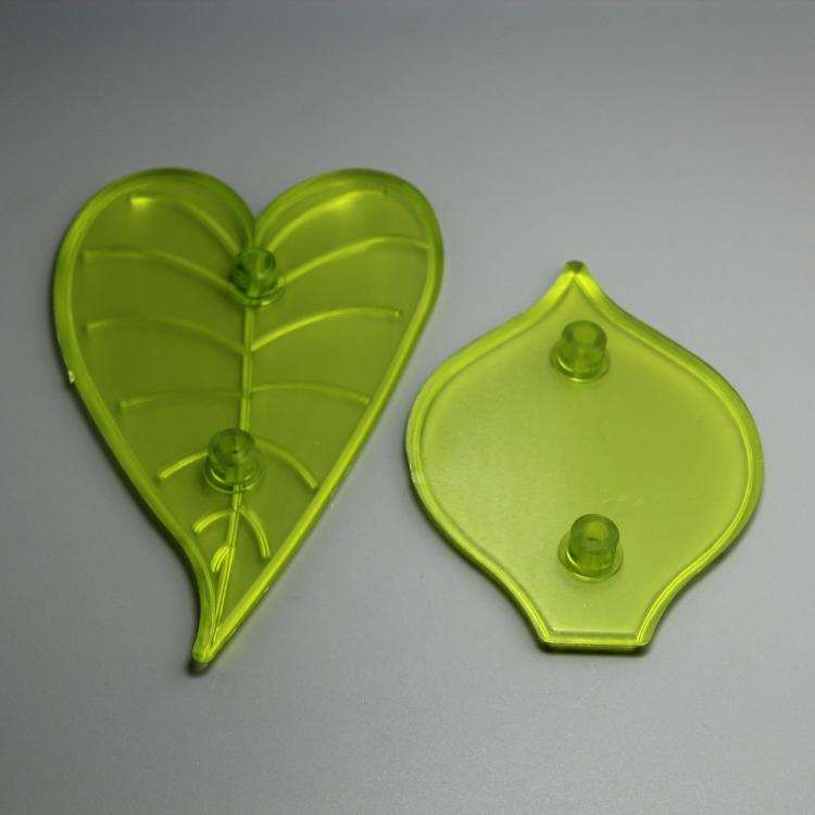 HB0754 Plastic 2pcs calla lily shaped impressing cake fondant mould set