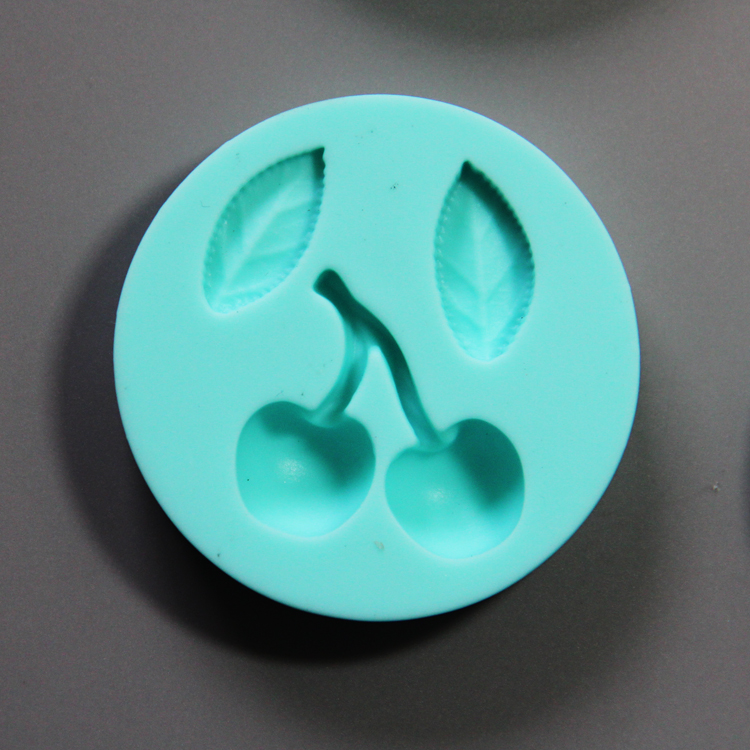 HB0782 4pcs bowtie and fruits silicone mold for cake fondant decorating