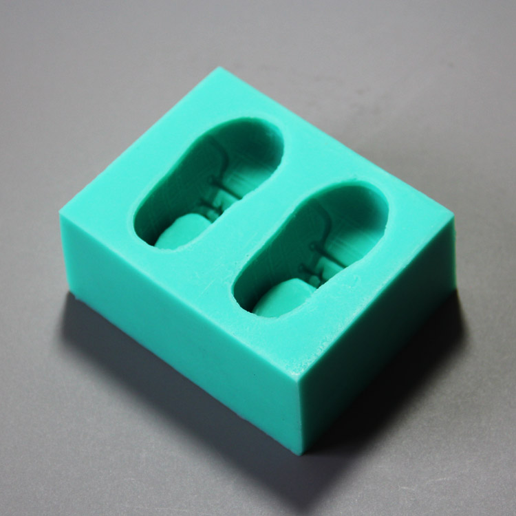 HB0866 Shoes silicone mold for cake fondant decoration