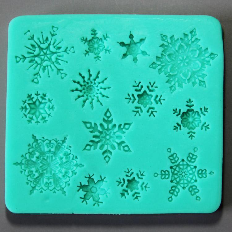 HB0875 Snowflake rectangle silicone moldfor cake fondant decoration