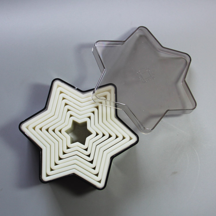HB0946 7pcs star shaped nylon cutters set for cake decoration