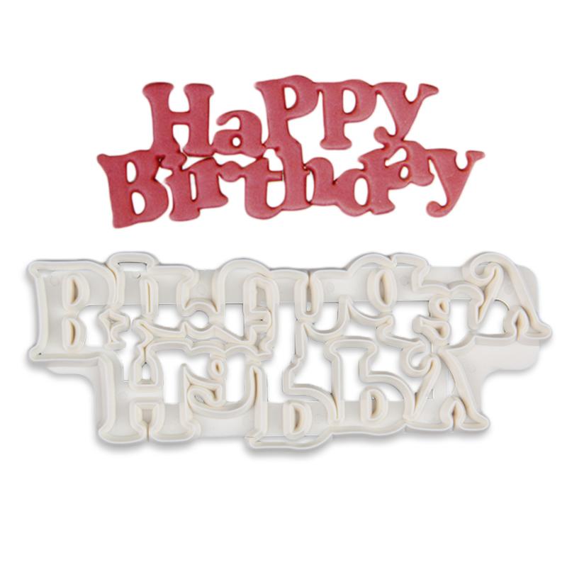 HB0953C Plastic Happy Birthday Theme Cake Fandant Mold
