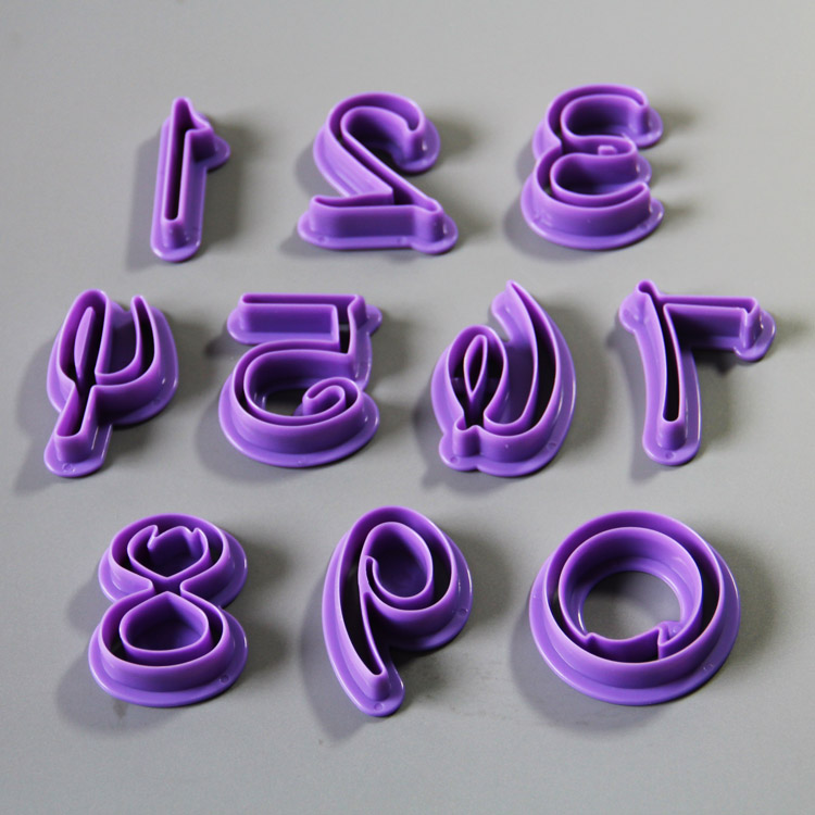 HB0954 10pcs Arabic numbers cake cutters set for cake decoration