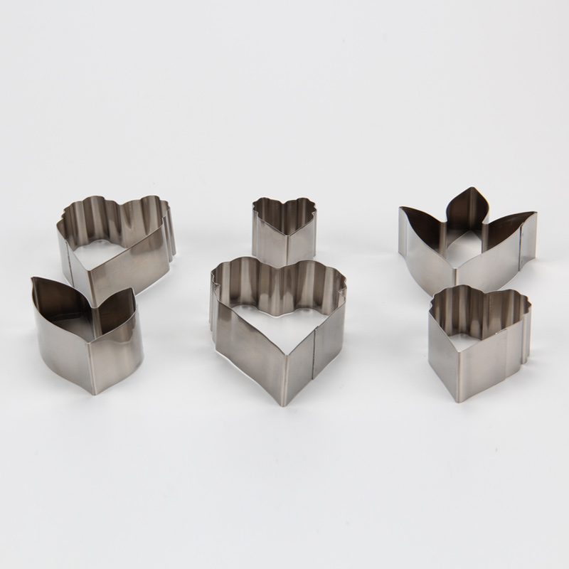 HB0958H 6pcs Stainless Steel Different Flowers and Leaves Shape Cookie Cutters set