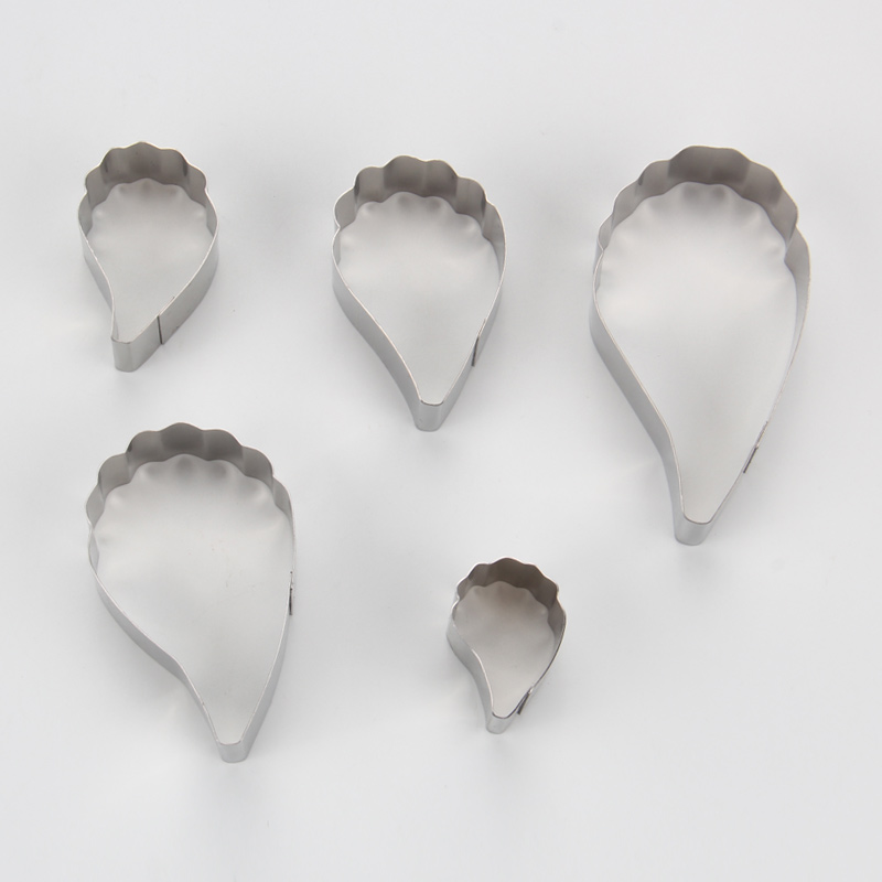 HB0958I 5pcs Stainless Steel Different Flowers and Leaves Shape Cookie Cutters set