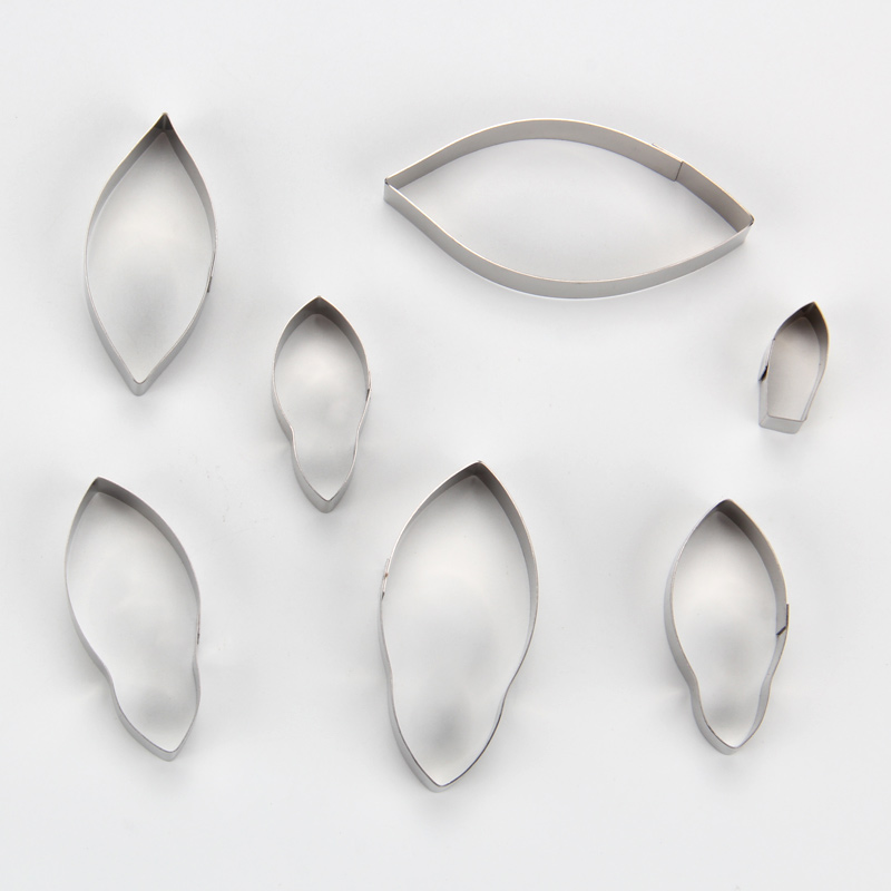HB0958J 7pcs Stainless Steel Different Flowers and Leaves Shape Cookie Cutters set