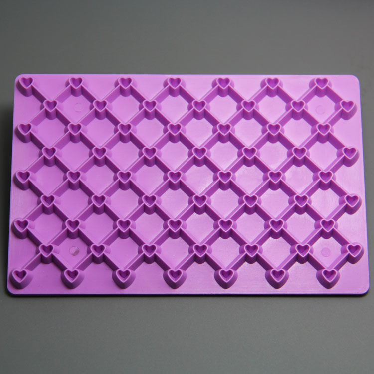 HB0979 heart and mesh cake stamp for cake decoration fondant embosser