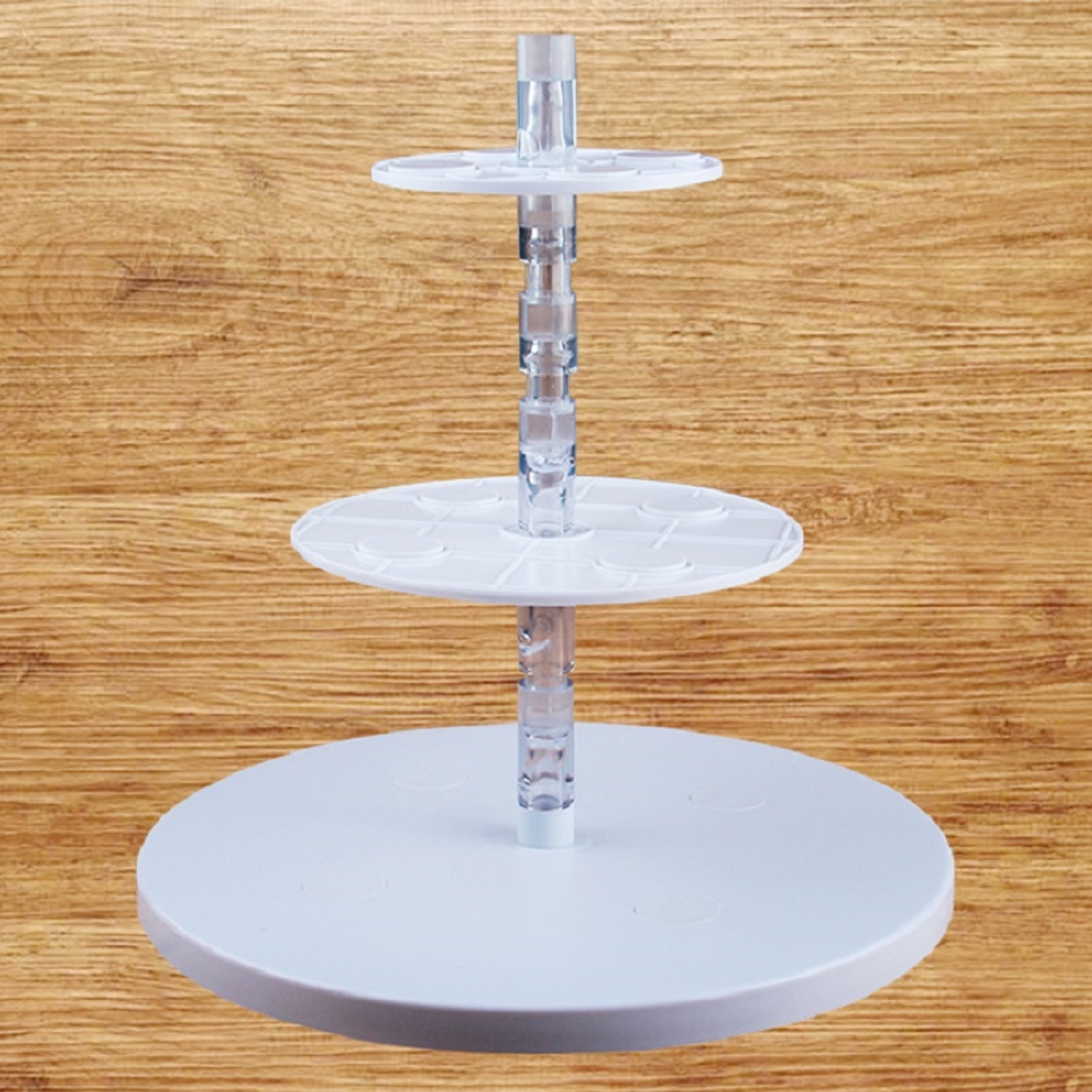 HB0989A Plastic Suspended cake rack cake cupcake turntable stand(3tiers)for Wedding Decoration