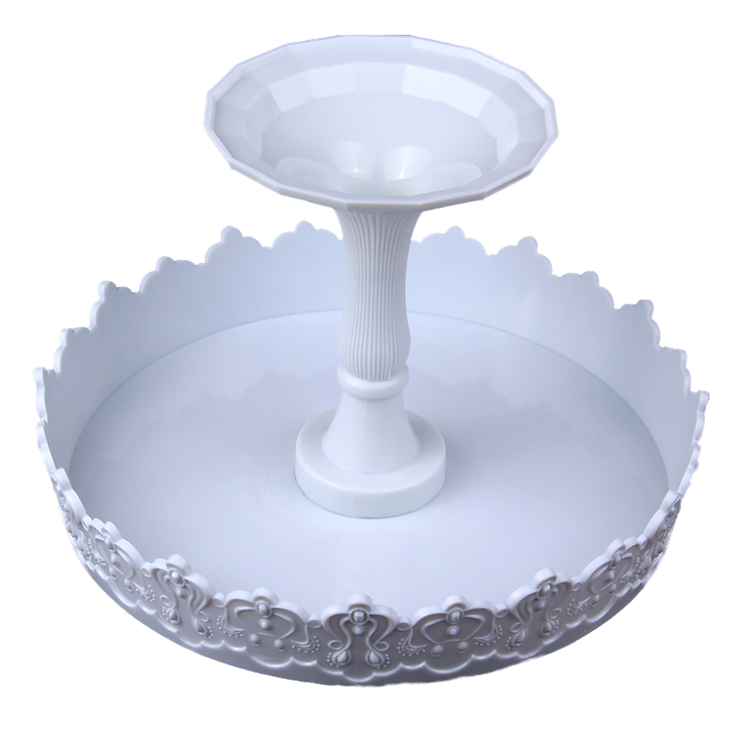 HB0989 Plastic Cake Decorating Retro Turntable Stand(8.9''x5.9'' )for Wedding Decoration