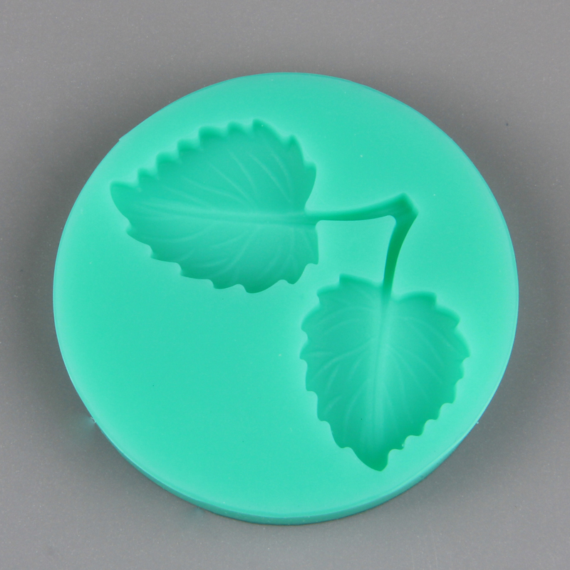 HB1016  New Mulberry leaves silicone cake fondant mold
