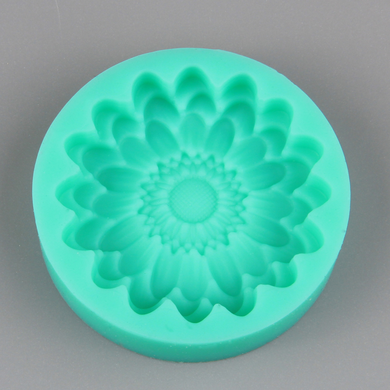 HB1020 New 3D sunflower silicone cake fondant mold