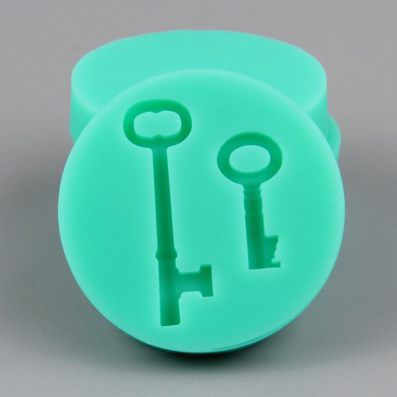 HB1027 New key design silicone cake fondant mold