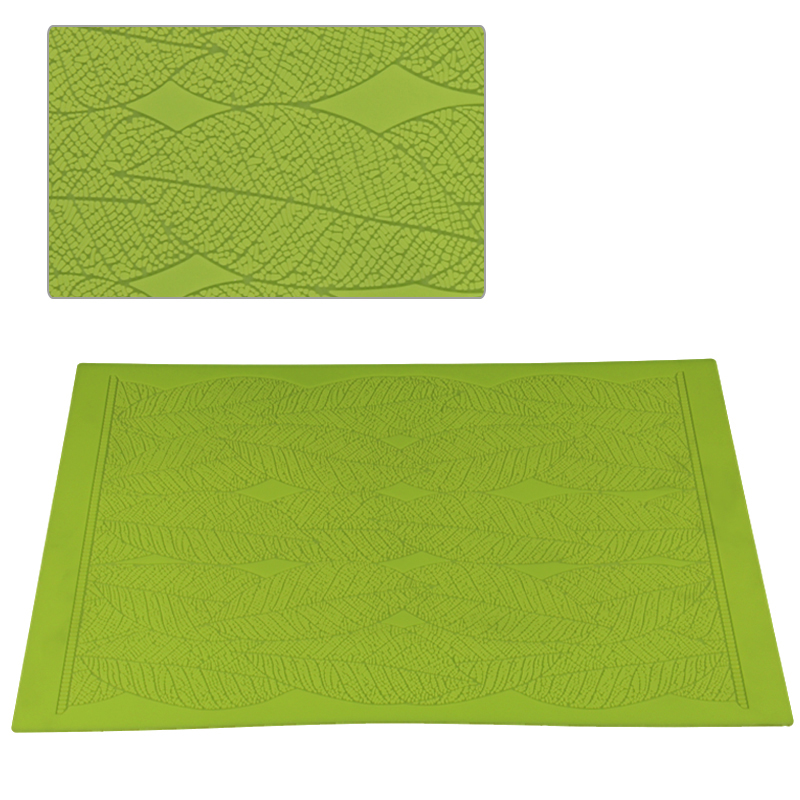 HB1038  Large size leaves fondant silicone sugar lace mat