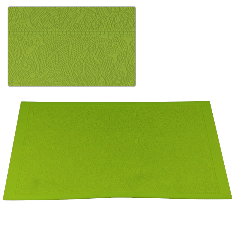HB1039  Large size leaves and flower fondant silicone sugar lace mat