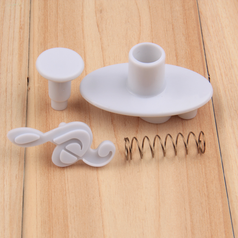 HB1042 4pcs Musical instruments cookie plunger cutter set