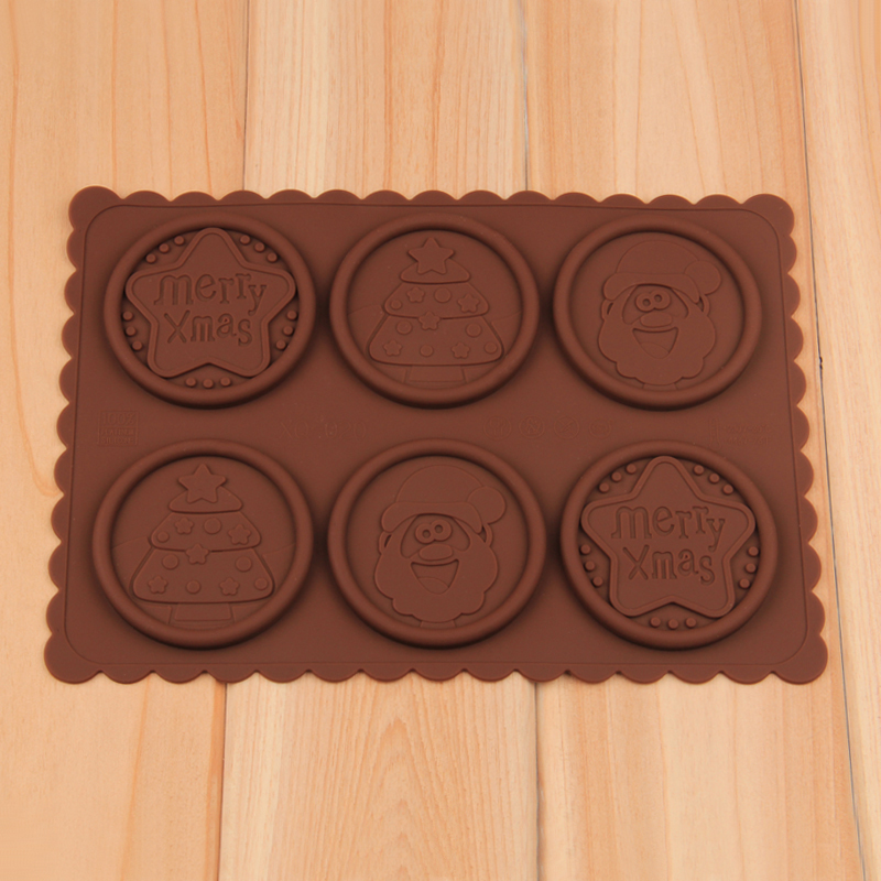 HB1046  Chrismats silicone cookie embosser mold set