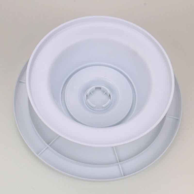 HB1051  Plastic 11.5x4''revolving cake stand