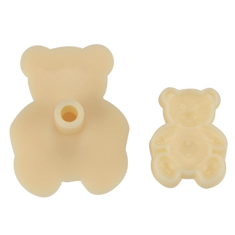 HB1055 Plastic 2pcs Teddy bear mould fondant pastry embosser set