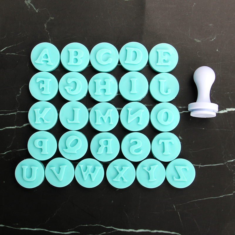 HB1057A Uppercase Letters Cookie Stamps Fondant Pressing Molds Set