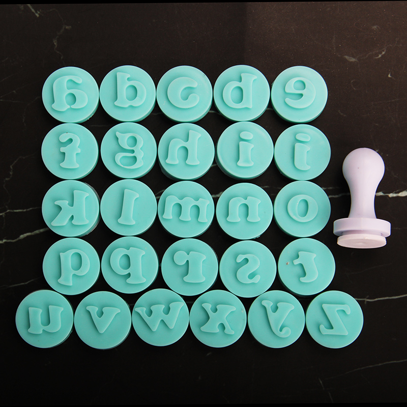 HB1057B Lowercase Letters Cookie Stamps Fondant Pressing Molds Set