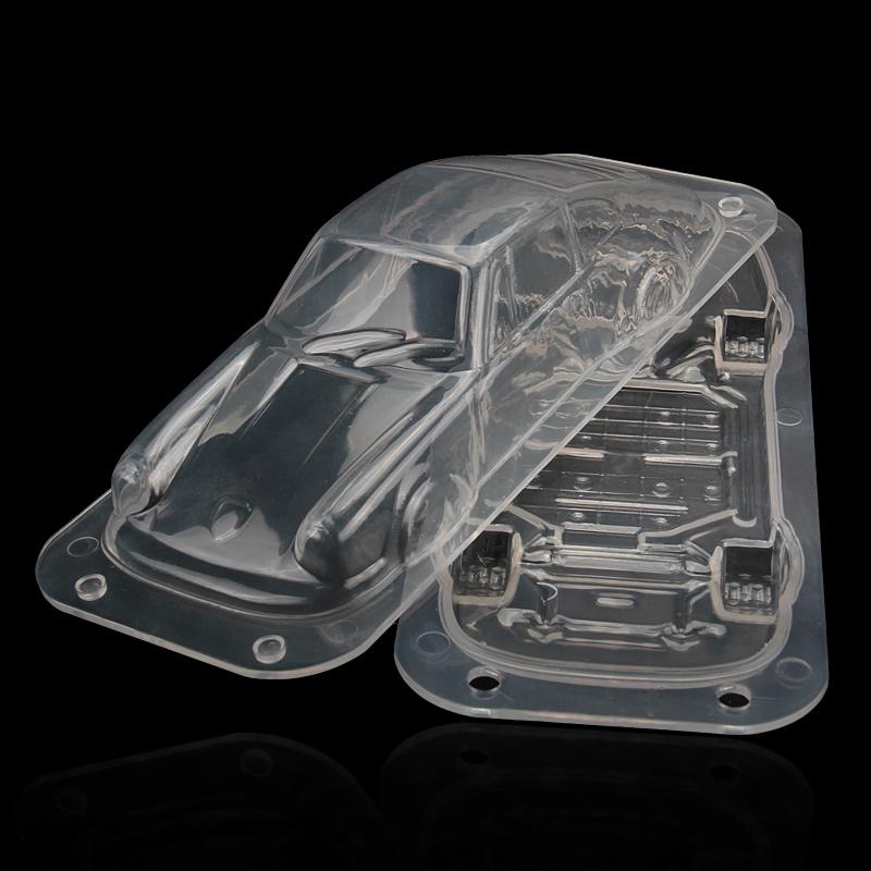 HB1058B Plastic Transparent Car Shape Chocolate Mould DIY Baking Tools