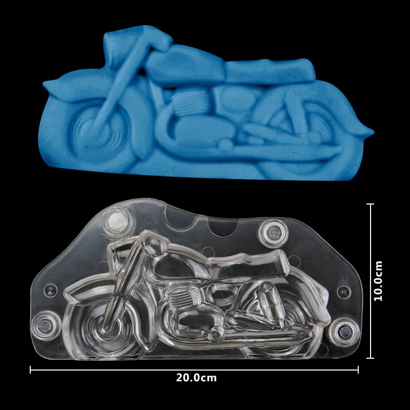 HB1058C Plastic Transparent Motorcycle Shape Chocolate Mould