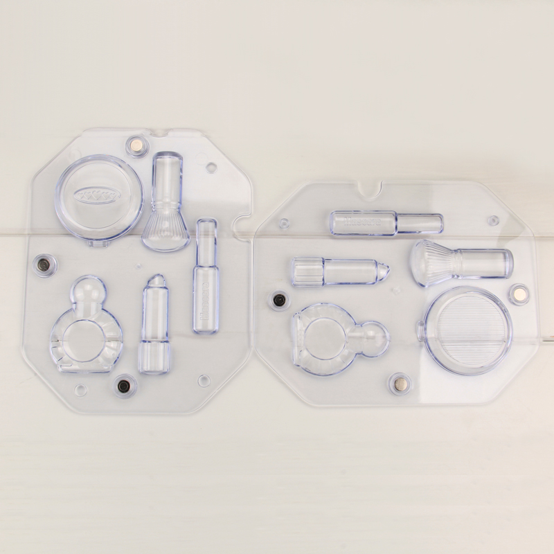 HB1058  Transparent Lady cosmetic tools chocolate mould