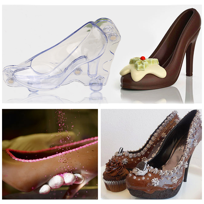 HB1059  Transparent Lady high heel shoe chocolate mould