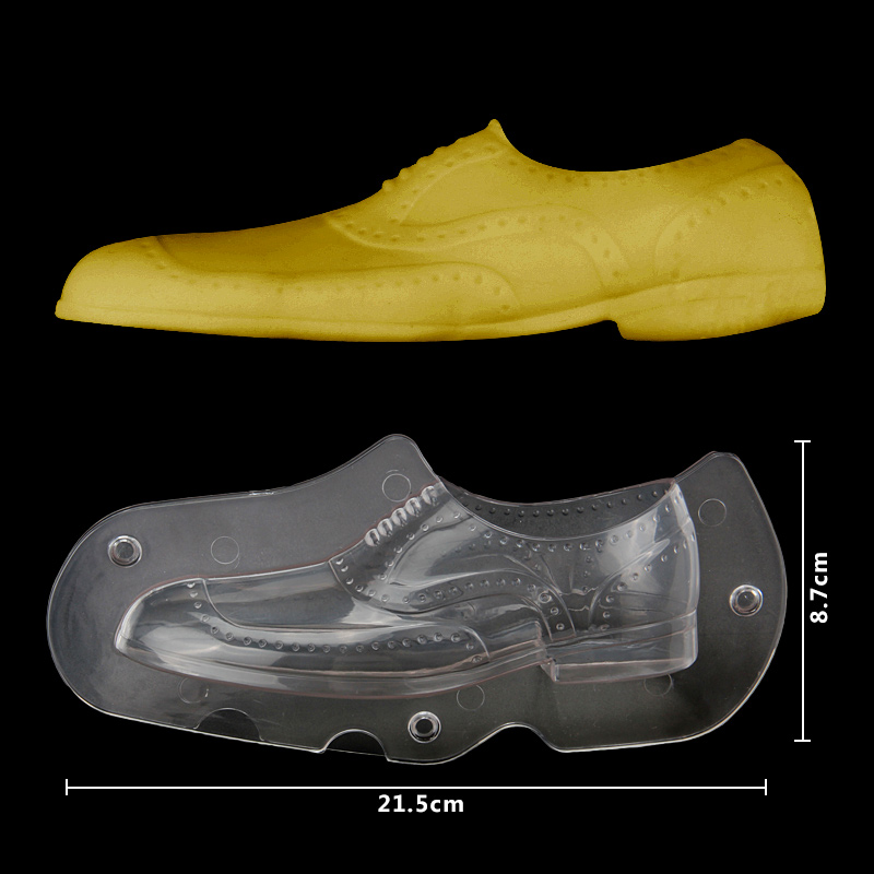 HB1059C Plastic Transparent Leather Shoes Shape Chocolate Mould