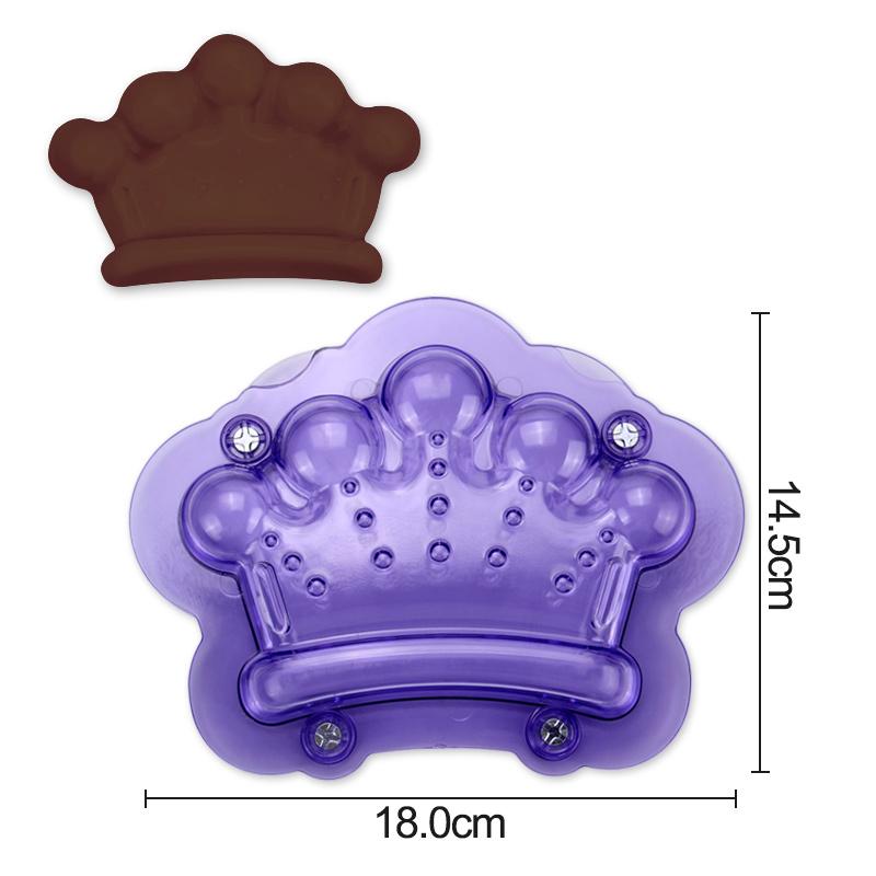 HB1060D Plastic Crown Chocolate Fondant Mold