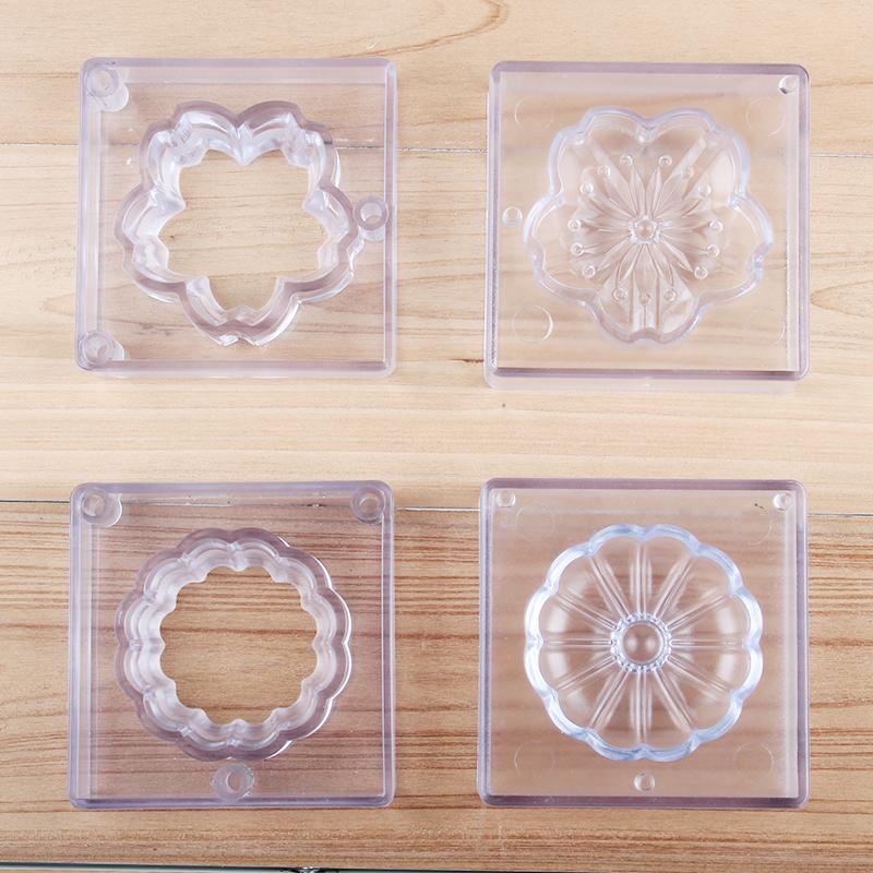 HB01063A Plastic 3D cake fondant dessert mold(cherry, chrysanthemum)