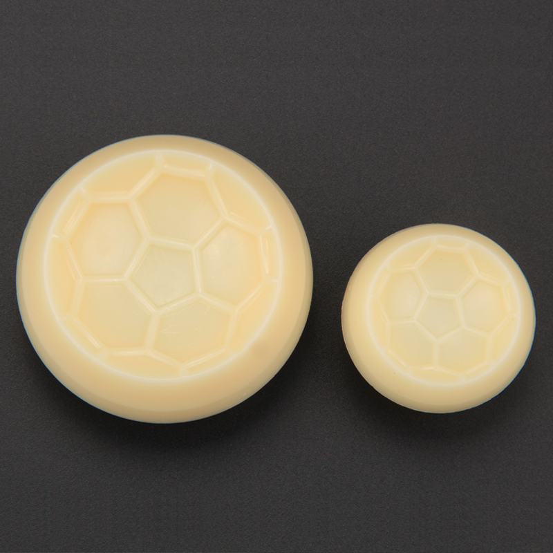 HB1064  Plastic 2pcs football mould fondant pastry embosser set