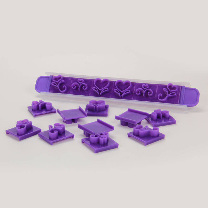 HB1075  Plastic Scroll border Cake Fondant/Cookie press mold set