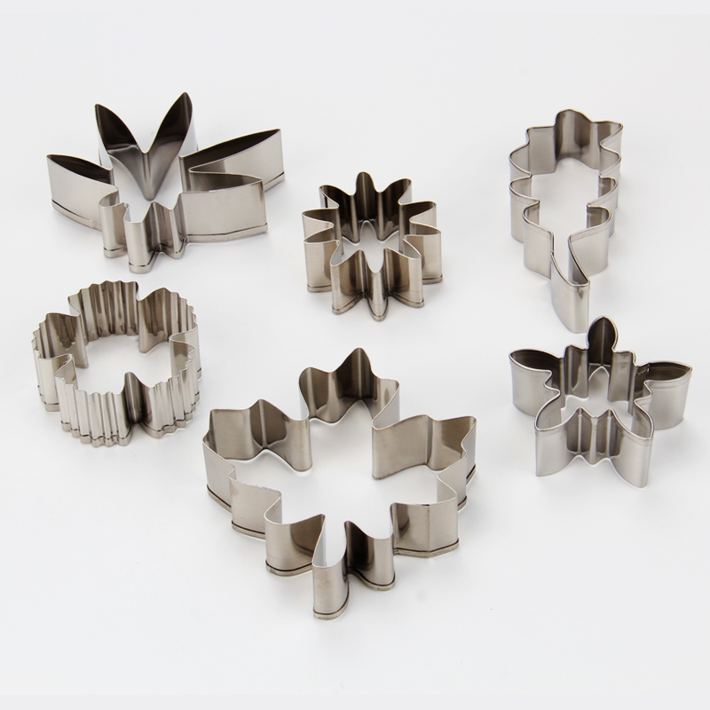 HB1081  Stainless steel flowers and leaves cookie cutters set
